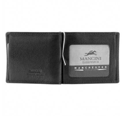 Mancini Men'S RFID Secure I.D. Single Bill Clip