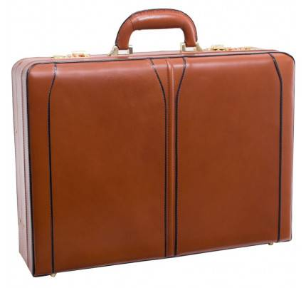 """McKlein Turner Leather 4.5"""" Expandable Attache Briefcase"""