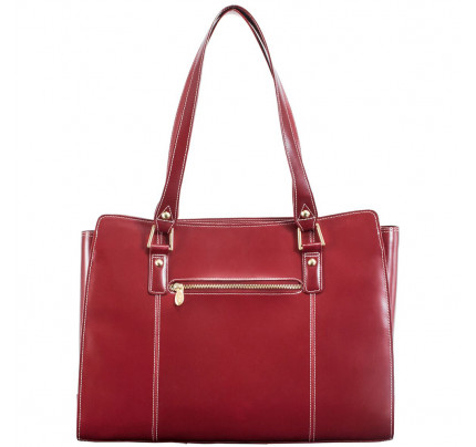 McKlein Glenna Leather Ladies Tote with Tablet Pocket