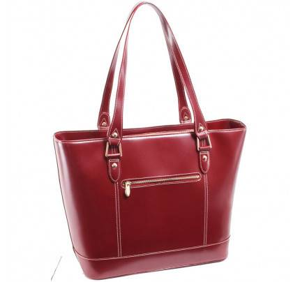 McKlein USA Arya Leather Ladies Tote with Tablet Pocket
