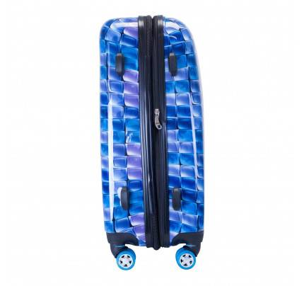 """ATM 3D Blue Collection 22"""" Rolling Luggage 6004"""