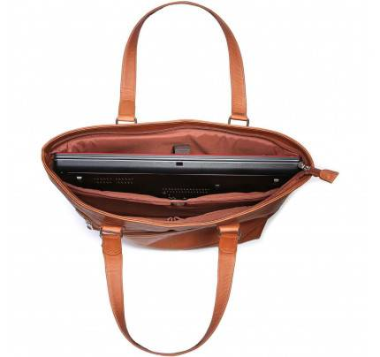 "Ledonne Leather 16"" Laptop Business Tote Bag"
