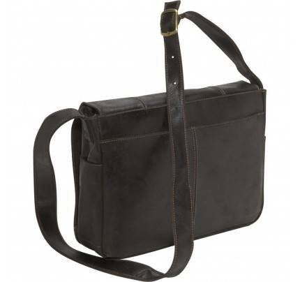 Ledonne Leather Distressed Laptop Messenger Bag