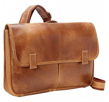 Ledonne Leather Koa Distressed Messenger Bag