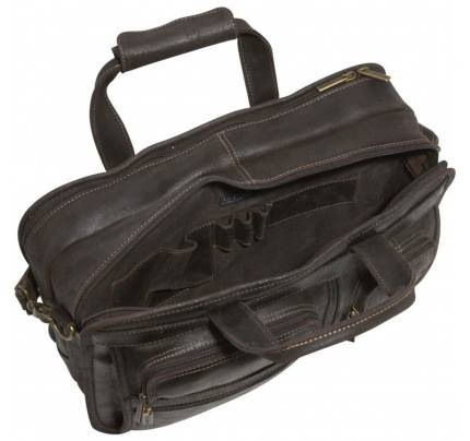 Ledonne Leather Multi Function Brief Bag