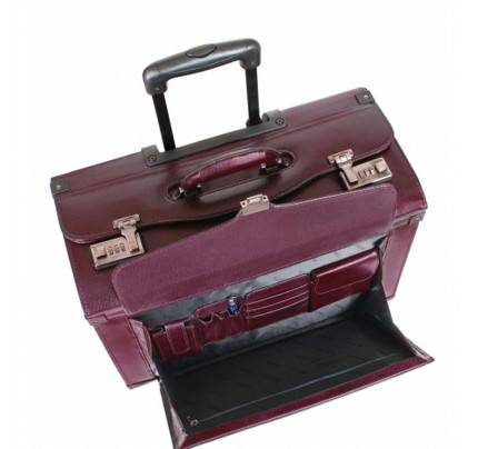 Mancini Business Collection Deluxe Wheeled Catalog Case