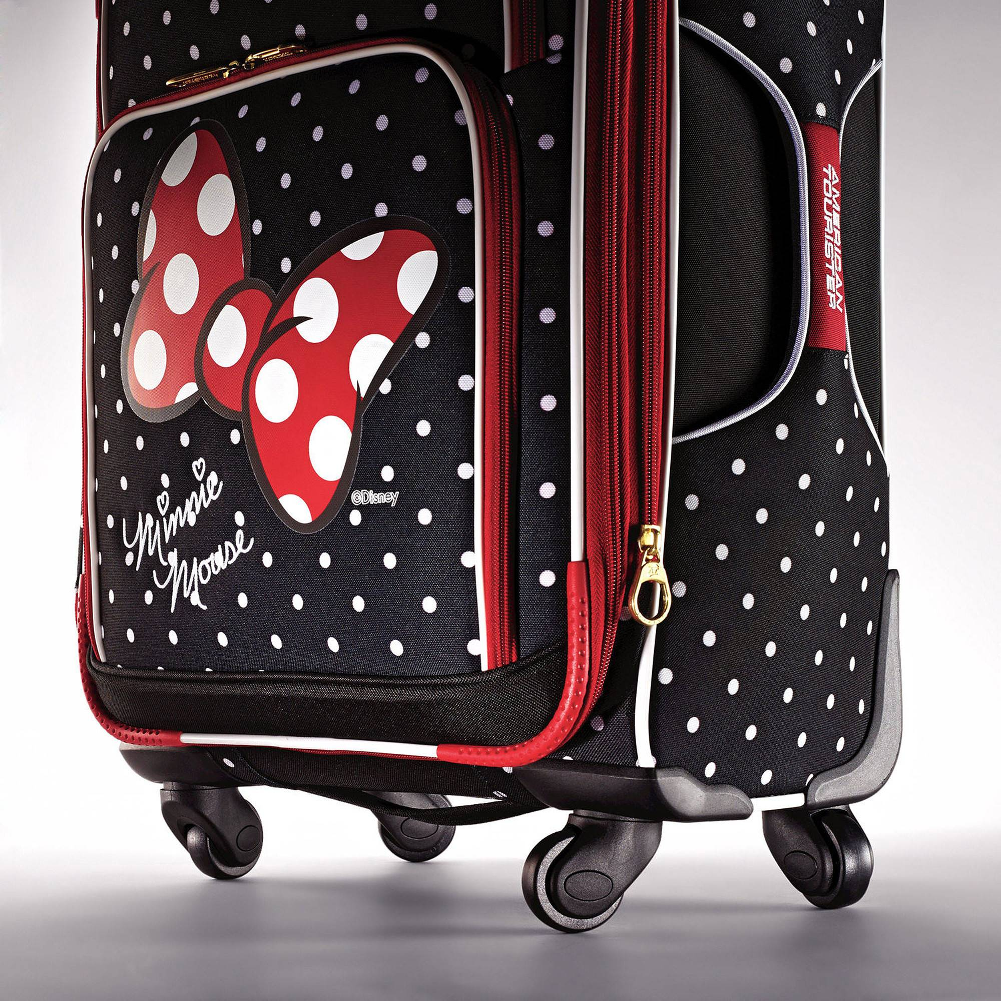 ... Samsonite American Tourister Disney Minnie Mouse 21 Spinner 67614View 2  ... f185a2710f52c